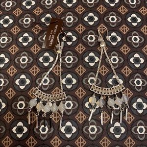 Henri Bendel Tribal Beaded Chandelier Earrings